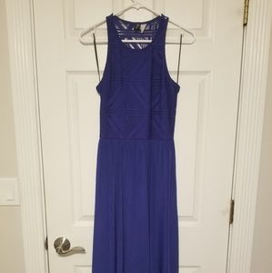 Royal blue H&M asymmetrical maxi dress sz8